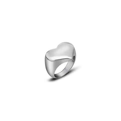 anello cuore steel